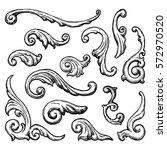 baroque and renaissance set of... | Shutterstock . vector #572970520