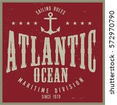 vintage nautical graphics and... | Shutterstock .eps vector #572970790