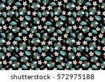 raster multicolor hibiscus... | Shutterstock . vector #572975188