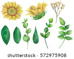 Sunflowers Clipart. Rustic...