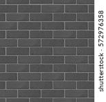 gray brick wall pattern. vector ... | Shutterstock .eps vector #572976358