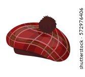 scottish traditional cap icon...   Shutterstock .eps vector #572976406