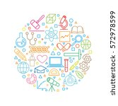 vector all sciences concept... | Shutterstock .eps vector #572978599