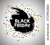 black friday discount banner... | Shutterstock .eps vector #572981860