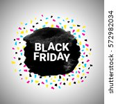 black friday discount banner... | Shutterstock .eps vector #572982034