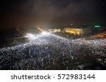 bucharest  romania   february 5 ... | Shutterstock . vector #572983144