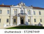 lichtenstein castle. colorful... | Shutterstock . vector #572987449