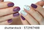 colored nail polish. beauty... | Shutterstock . vector #572987488