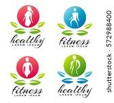 women fitness logo. fitness...   Shutterstock .eps vector #572988400