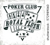 vintage casino logo design  ... | Shutterstock .eps vector #572989060