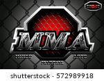 original logo mixed martial... | Shutterstock .eps vector #572989918