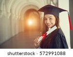 woman student in graduation cap