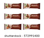 chocolate bars with nuts   Shutterstock . vector #572991400