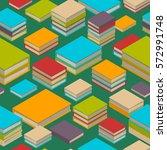 seamless pattern of new 3d... | Shutterstock .eps vector #572991748