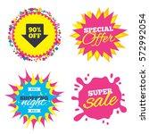 sale splash banner  special...   Shutterstock .eps vector #572992054