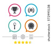 first place award cup icons....   Shutterstock .eps vector #572995138