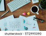 business document in office... | Shutterstock . vector #572995390