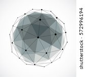 abstract 3d faceted figure with ... | Shutterstock .eps vector #572996194