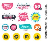 sale shopping banners. special... | Shutterstock .eps vector #573001336