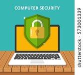 computer security concept.... | Shutterstock .eps vector #573001339