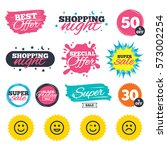 sale shopping banners. special... | Shutterstock .eps vector #573002254