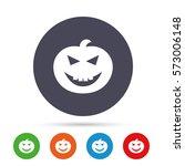 halloween pumpkin sign icon.... | Shutterstock .eps vector #573006148