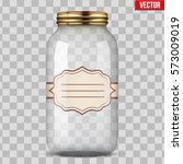 big glass jar for canning and... | Shutterstock .eps vector #573009019