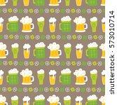 st. patrick's day seamless... | Shutterstock .eps vector #573010714