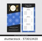 vector template restaurant menu ... | Shutterstock .eps vector #573013420