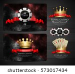 casino collection   vintage... | Shutterstock .eps vector #573017434