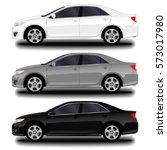 realistic car. sedan. set   Shutterstock .eps vector #573017980