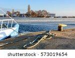 Fishing Boat Anchored At Port...