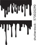 pair of black paint drips.... | Shutterstock .eps vector #573020290