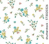 seamless floral pattern in... | Shutterstock .eps vector #573020326