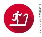 treadmill flat icon | Shutterstock .eps vector #573024514