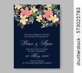 wedding invitations with... | Shutterstock .eps vector #573025783