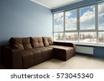 clean family room with brown... | Shutterstock . vector #573045340