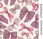 seamless pattern with vintage... | Shutterstock .eps vector #573046018