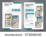 business brochure template.... | Shutterstock .eps vector #573048100