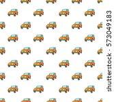 jeep pattern. cartoon... | Shutterstock . vector #573049183
