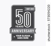 50th anniversary logo. vector... | Shutterstock .eps vector #573054220