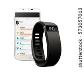 fitness bracelet tracker for... | Shutterstock .eps vector #573057013