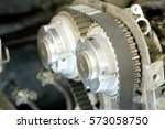 part of a car engine | Shutterstock . vector #573058750