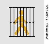 silhouette illustration of a... | Shutterstock .eps vector #573059128