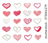 st valentine s day clipart.... | Shutterstock .eps vector #573061279