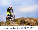 professional cyclist riding the ...   Shutterstock . vector #573061720