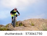 professional cyclist riding the ...   Shutterstock . vector #573061750