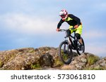 professional cyclist riding the ... | Shutterstock . vector #573061810