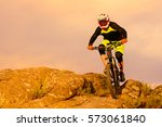 professional cyclist riding the ... | Shutterstock . vector #573061840