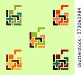 tetris pieces collection ...   Shutterstock .eps vector #573061984